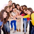 Group of happy , joining hands — Stock Photo #27435157