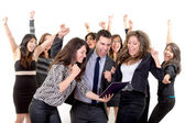 Large group of happy business . Success. — Stock Photo