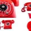 Old telephone. Collage — Stock Photo #28912393