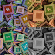 Collage of different processors — Stock Photo #28913895