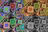 Collage of different processors — Stock Photo