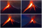 Tungurahua Volcano eruption collage — Stock Photo