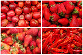 Red fruits and vegetables — Stock Photo