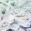 Stock Photo: Waste paper recycling. office