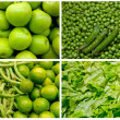 Collage from fresh fruit and vegetables — Stock Photo