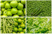 Collage from fresh fruit and vegetables — ストック写真