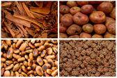 коллаж из свежих фруктов и овощей — Стоковое фото