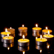 Small candles in a circle — Stock Photo