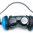 Safety Gear ear defenders and goggles — Stock Photo #30452225