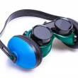 Safety Gear ear defenders and goggles — Stock Photo #32892081