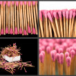 Set of whole and burnt matches at different stages — Stock Photo #32917799