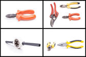 Wrench pliers, cutters hardware set — Stock Photo