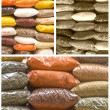 Collage of spices in a market — Stock Photo