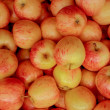Red apples background — Stock Photo