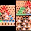 Chinese checkers wooden board set — Stock Photo