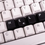 Word Help written with black keys on computer keyboard. — 图库照片