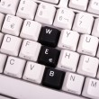Word JOB written with black keys on computer keyboard. — Stock Photo