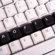 Word Profile written with black keys on computer keyboard. — Stock Photo