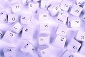 Stack of blue Computer Keyboard keys — Stock Photo