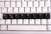 Word Security written with black keys on computer keyboard. — Stock Photo