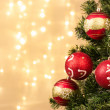 Closeup of Christmas-tree decorations — Stock Photo