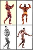 Bodybuilder flexing his muscles in studio — Stock Photo