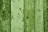 Green color wood plank texture, background — ストック写真
