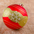 Christmas ball with snowflake — Stock Photo