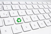 ECO keyboard, Green recycling concept — Stock Photo