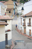 Quito old town historic center view, Ecuador. — 图库照片