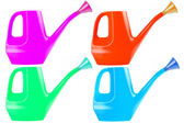 Watering can color collection set — Stock Photo