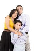 İspanyol aile birbirine yakın tutarak — Stok fotoğraf