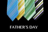 Father's day tie motive greeting card with message — 图库照片
