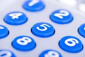 Close up of a blue keypad — Stock Photo