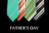 Father's day tie as greeting card with message — Stock Photo