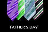 Happy father day tie greeting card — Stock Photo