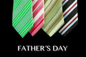 Father's day tie motive greeting card with message — Fotografia Stock