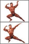 Hispanische fitness mann isoliert auf weiss — Stockfoto