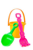 Isolated shot of beach toys, bucket — Stockfoto