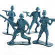 Blue Toy army toy soldiers — Stock Photo