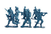 Blue army toy soldiers — Stock Photo