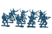 Toy soldiers white background — Stock Photo