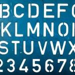 Letter stencil — Stock Photo #42762807