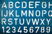 Letter stencil — Stock Photo