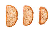 Bread isolated on a white background — Stock Photo