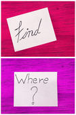 Post it notes, find , where — Stock Photo