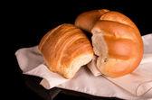 Bread on dark background — Fotografia Stock
