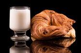 Leite e pão — Fotografia Stock