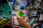 Ice cone on the streets of Otavalo Ecuador — Stockfoto