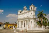 Main square church, Suchitoto town in El Salvador — Stock Photo